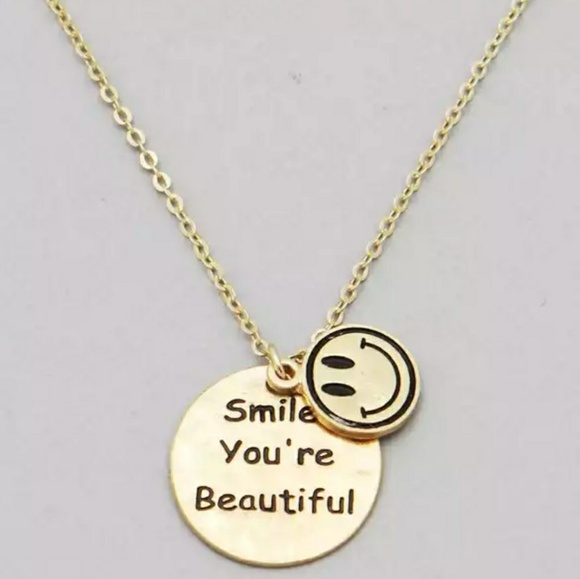 40 off jewelry smile message pendant necklace from denise posh m5ab1fb975512fd4587db312d mozeypictures Image collections